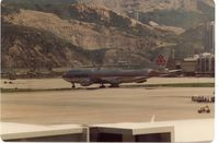 LX-DCV - Arrival at HKG Kai Tak,1980 - by metricbolt