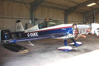 G-DUKK @ EGCJ - Extra 300 hangared at Sherburn