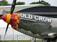 N167F @ EGSU - North American P-51D Mustang N167F Scandinavian Historic Flight painted as US Air Force 44-14450/B6-S Old Crow - by Alex Smit