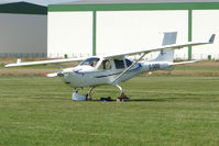 G-JABU @ EGCJ - Developed a puncture whilst taxying in at  Sherburn for the 2009 LAA Great Northern Rally
