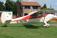 G-AKVN @ EGCJ - Aeronca 11AC - Visitor to Sherburn for the 2009 LAA Great Northern Rally