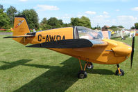 G-AWDA @ EGCJ - Slingsby Nipper - Visitor to Sherburn for the 2009 LAA Great Northern Rally