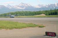 82-0055 @ PANC - 82-0055 / AK (cn 382-4970) USAF ANG C-130, landing RWY 25R PANC. - by Mark Kalfas