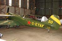 G-EYAK @ EGBG - Yak 50 hangared at Leicester