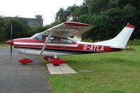 G-ATLA @ EGBG - Cessna 182J at Leicester