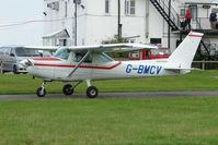 G-BMCV @ EGBG - Cessna 152 at Leicester