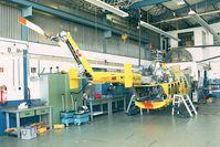 D-HUHN @ EDKB - MBB Bo 105CBS-5 of ADAC EMS undergoing maintenance at Air Lloyd at Bonn-Hangelar airfield - by Ingo Warnecke