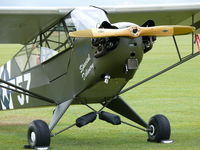G-RRSR @ EGSU - Piper PaJ3C-65 Cub G-RRSR R. Roberts painted as US Air Force44-80173/H-57 Special Delivery - by Alex Smit