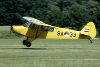 N298SQ @ EBDT - Splendid looking Piper Cub in this fifties outfit of the Netherlands AF.
