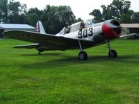 N57486 @ I80 - Arriving at the EAA fly-in - Noblesville, Indiana - by Bob Simmermon