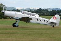 G-PTWO @ EGKH - 1946 Pilatus P2-05 , wears Swiss AF Serial U-110  , at Headcorn , Kent , UK