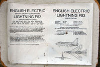 ZF587 @ EGKH - History of Lightning ZF587 fueslage at Headcorn