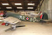 G-SOCT @ EGKH - Yak 50 hangared at Headcorn , Kent , UK