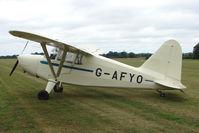 G-AFYO @ EGKH - 1939 Stinson Aircraft Corporation STINSON HW-75, at Headcorn UK