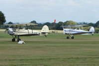 G-BPLM @ EGKH - A pair of Stampes about to perform at Headcorn