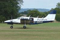 G-BRHO @ EGKH - Piper PA-34-200  at Headcorn , Kent , UK