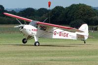 G-BIGK @ EGKH - 1946 Taylorcraft Aviation Corporation TAYLORCRAFT BC12D at Headcorn , Kent , UK