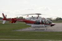 C-FTHD @ CYQF - Tasman Bell 407 - by Andy Graf-VAP