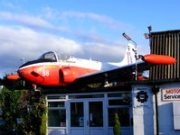 XM425 @ NONE - Jet Provost T3A displayed on top of a garage in Longton, Stoke-on-Trent - by Chris Hall