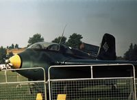 191659 @ EGTC - Me163B Komet with Cranfield Insitute of Technology on display at the 1973 Business & Light Aviation Show. - by Peter Nicholson