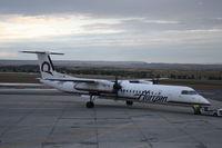 N400QX @ KBIL - DHC-8-402 - by Mark Pasqualino