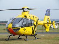 D-HSOS @ EDKB - Eurocopter EC135P1 of ADAC Luftrettung (EMS) at the Bonn-Hangelar centennial jubilee airshow - by Ingo Warnecke