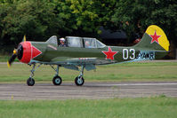 G-YAKR @ EGSX - Yak 52 at North Weald