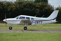G-CBTT @ EGSX - Piper PA-28-181 departs North Weald