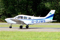 G-OJWS @ EGSX - Piper PA-28-161 departs North Weald