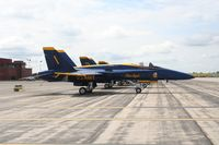 161963 @ YIP - Blue Angels F-18A - by Florida Metal