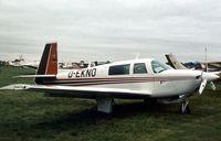 D-EKNO @ EGTC - Mooney M-20J at the 1977 Cranfield Business & Light Aviation Show. - by Peter Nicholson