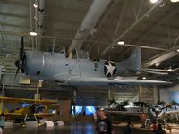 2173 @ NPS - A Douglas SBD-3 Dauntless on display at the Pacific Aviation Museum - by Kreg Anderson