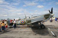 C-FFLC @ YIP - Spitfire Mk XI - by Florida Metal