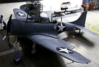 2106 @ NPA - This SBD-2 Dauntless (Bureau Number 2106) was on Ford Island, Hawaii during the Imperial Japanese Navy's attack on Pearl Harbor.  At the battle of Midway crewed by Marines 1st LT Daniel Iverson, Jr., pilot, and PFC Wallace J. Reid, radioman-gunner, this p - by James D. Collins