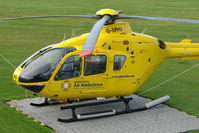 G-SPHU @ EGCB - Eurocopter now wears North West Ambulance titlesat Barton