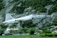 J-3062 @ LSMJ - Landing in the narrow Rhone Valley was one of the challenges when flying in and out Turtmann. - by Joop de Groot