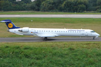 D-ACKK @ EGBB - Lufthansa CRJ-900 about to depart from Birmingham UK - by Terry Fletcher