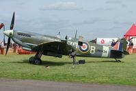 G-ASJV @ EGBG - Duxford Spitfire at Leicester