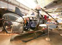 182 @ LFBD - Preserved Alouette II inside CAEA Museum - by Shunn311