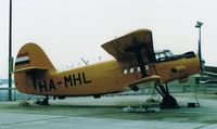 HA-MHL @ EDDF - AN-2 Displayed on spectator's area, since removed. (scanned image.)