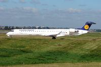 D-ACKF @ EGBB - Lufthansa CRJ-900 about to depart from Birmingham UK