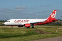 D-ABDU @ EGBB - Air Berlin A320 at Birmingham