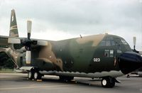55-0023 @ GREENHAM - C-130A Hercules of 928th Tactical Airlift Group on display at the 1979 Intnl Air Tattoo at RAF Greenham Common. - by Peter Nicholson