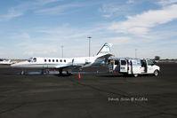 N550PF @ KGEU - clear the aircraft - by Dawei Sun