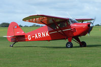 G-ARNK @ EGBK - Visitor to the 2009 Sywell Revival Rally - by Terry Fletcher