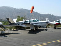 N1308Z @ SZP - 1961 Beech N35 BONANZA, Continental IO-470-N 260 Hp - by Doug Robertson