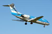 PH-KZW @ EGBB - KLM Fokker 70 landing at Birmingham