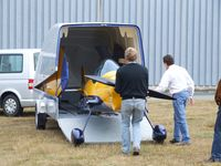 D-MTMH @ EDLO - Silence Twister prototype being unloaded from the company trailer at the 2009 OUV-Meeting at Oerlinghausen airfield - by Ingo Warnecke