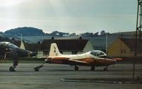 XW306 @ EGQL - Jet Provost T.5B navigation trainer of 6 Flying Training School on display at the 1977 RAF Leuchars Airshow. - by Peter Nicholson