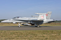 J-5012 @ EBBL - Swiss Air Force F/A-18C taxying to the active
